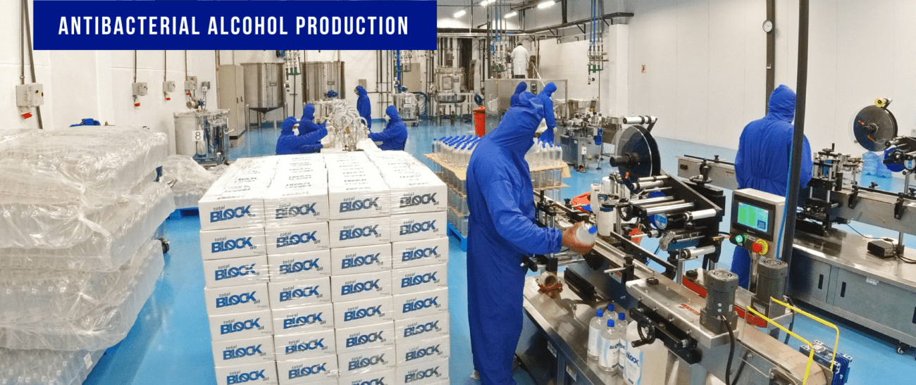 Totalbloker Antibacterial Alcohol Production